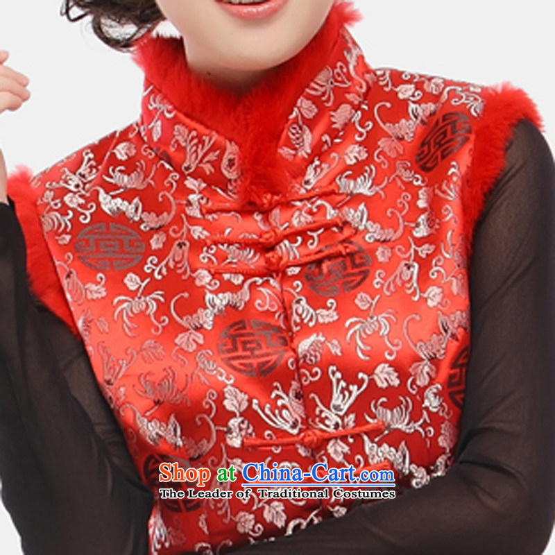 The former Yugoslavia LiSpring 2015 know Tang blouses female Ma 甲士 Chinese Long Folder cotton vest increase improved qipao ma folder, a34sherds of Caesars red vestXXXL, Yugoslavia (Q.LIZHI Li shopping on the Internet has been pressed.)