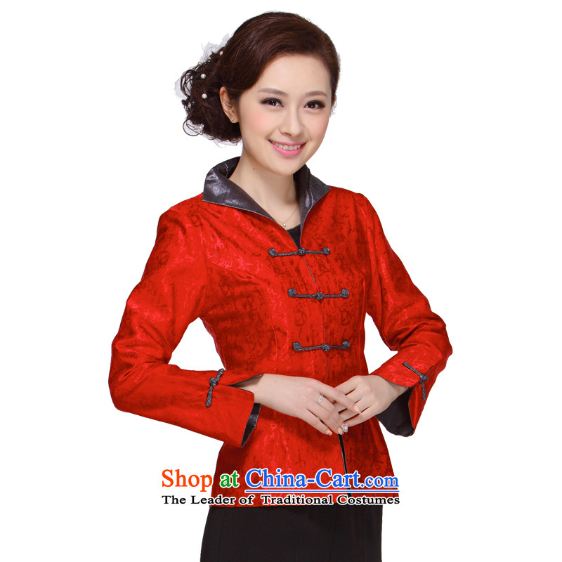 Ms. Tang dynasty autumn 2013 in New replacing older moms clothes jacket Tang Women's clothes?M-007??3XL green