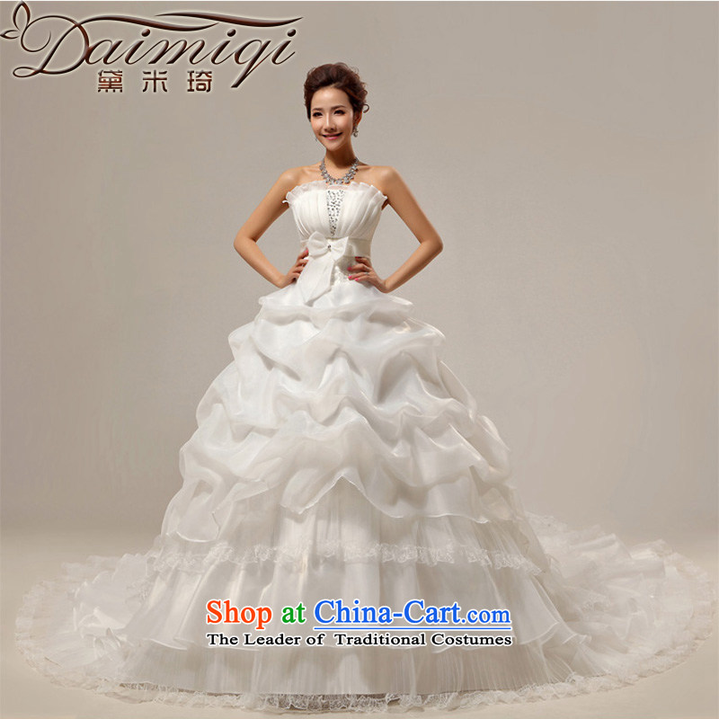 Doi m qi wedding dresses new 2014 wedding tail Princess Korean version of large numbers of pregnant women large trailing white wedding a made-to-order here