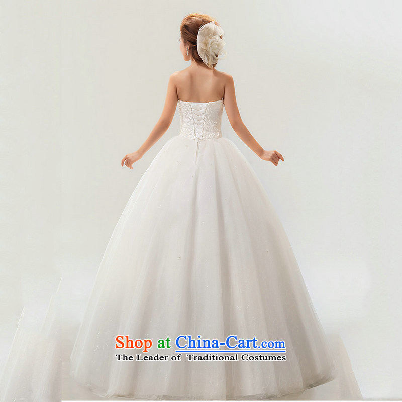 There is also optimized 8D Korean sweet bow tie lace bride wedding dresses XS5234 White XL