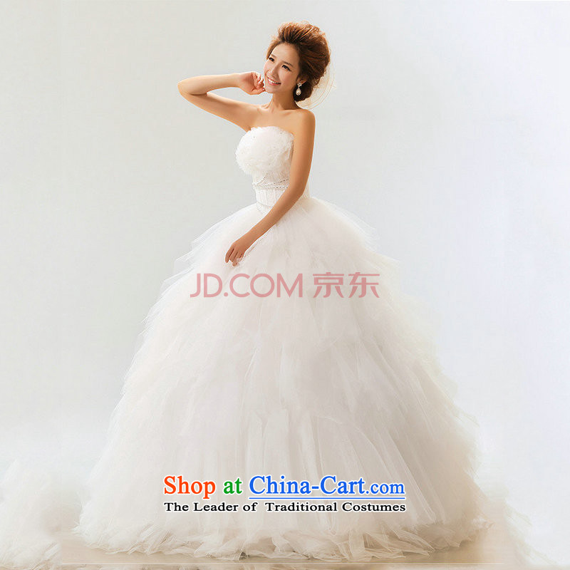 There is also a grand Korean optimize new palace lace wiping the chest straps Princess Bride wedding XS5231 not white�S