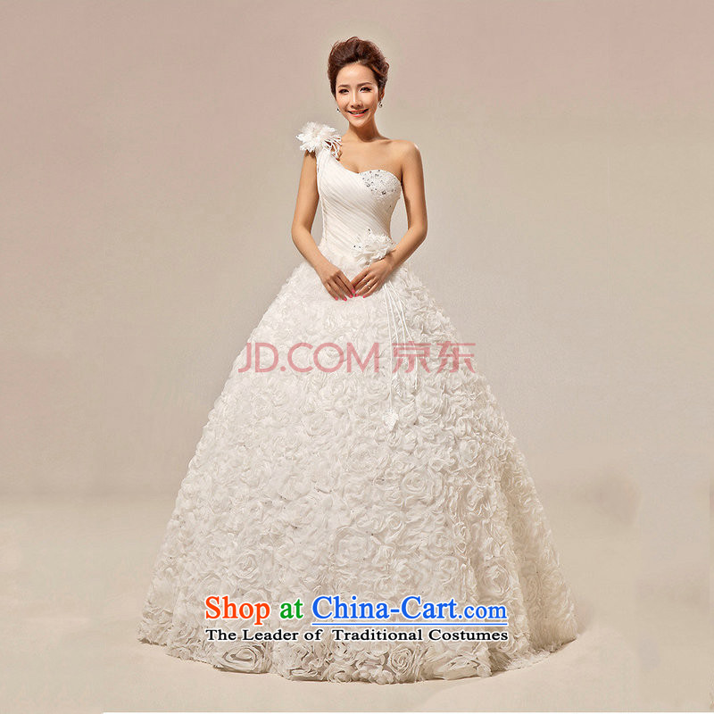 There is also optimized 8D wedding dresses Korean sweet Princess Bride to align the shoulder and chest wedding XS5230 White?XL