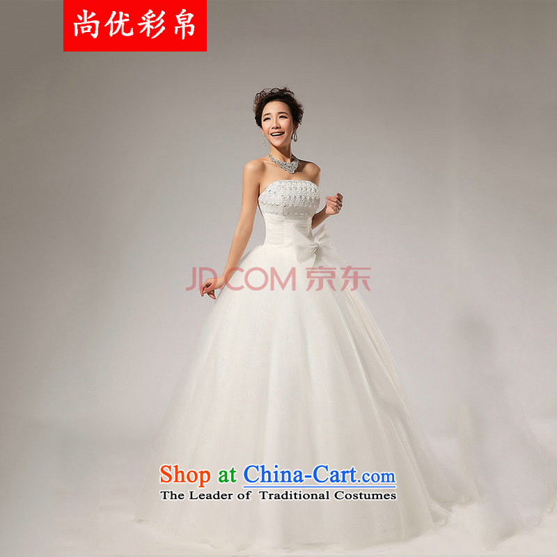 There is also a grand new optimize wedding anointed chest Korean wedding dress XS5219 White?XXL