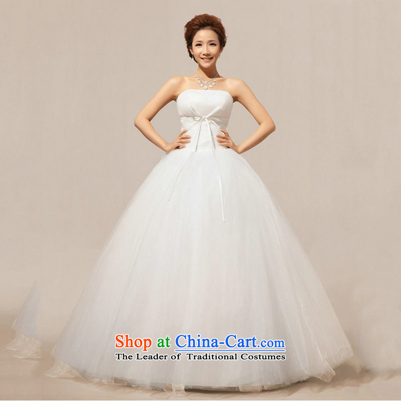 There is also a grand new optimize wedding anointed chest wedding dresses XS5217 sweet White?XL
