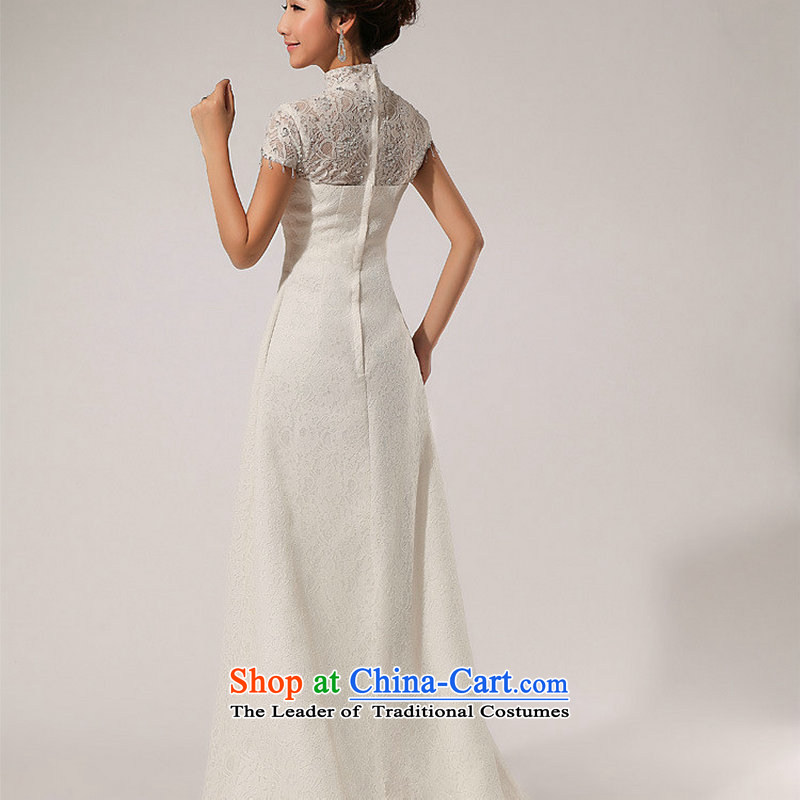 There is also optimized 8D word lace shoulder retro crowsfoot wedding dresses and sexy XS5213 minimalist White?XXL