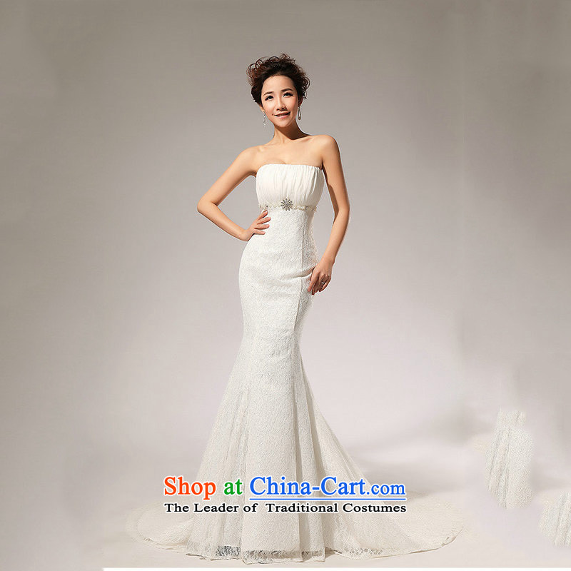 There is also optimized 8D to align the lace. A skirt anointed chest waist wedding dresses long skirt XS5211 White?XL