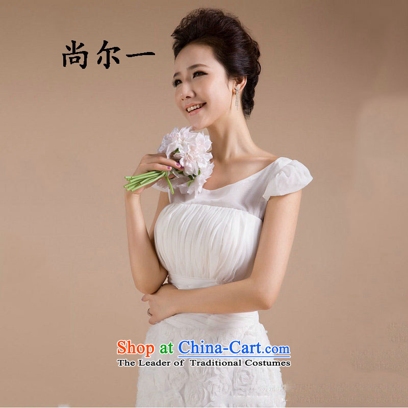 The population of Taiwan New small dress flowers skirt as bridesmaid to skirt short skirt XS2278 White M