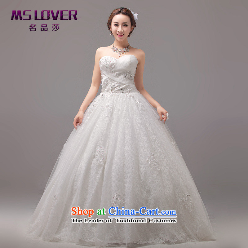 �The Korean version of sweet mslover Princess Bride anointed chest straps to bride Wedding Super large tents petticoats Wedding�0020�M� L2 Tape white waist size 2)