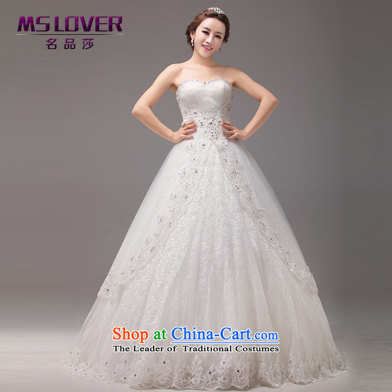 Mslover聽Korean wedding bride anointed chest Sau San video thin wedding straps to align the bride wedding custom Wedding 0021 m White聽 2 feet_ of PUERTORRICANS waist