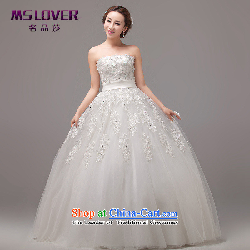 Mslover聽new irrepressible romantic Princess Bride anointed chest Sau San video to bind the thin snap with bride wedding with long-sleeved vest聽0022聽m White聽2 feet_ of PUERTORRICANS waist