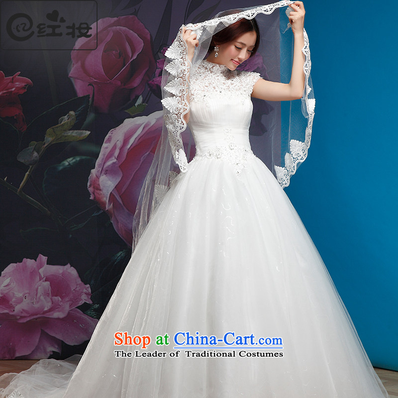Recalling that the 2015 Summer hates makeup and stylish wedding dresses and chest of the word shoulder Korean hang lace thin graphics also align to drag the tail wedding dresses H13730 package shoulder tail)�L