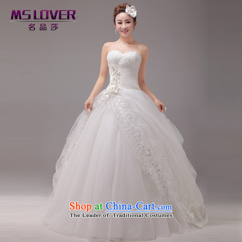 聽The Korean version of the new mslover asymmetrical Crystal Flower lace The Princess Bride Sau San video thin and chest straps to wedding聽0025聽m White聽2 feet_ of PUERTORRICANS waist