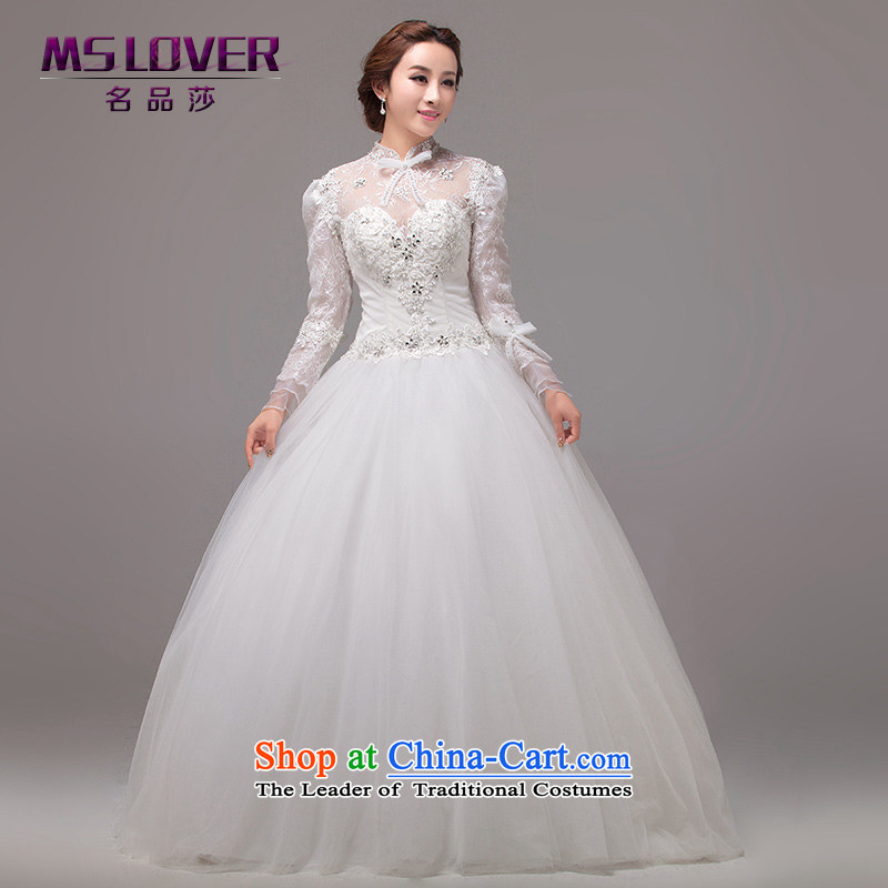 聽Royal Princess temperament of the Sau San mslover wedding to align the long-sleeved wedding custom Wedding聽0026聽M聽L2 Tape white waist size 2_
