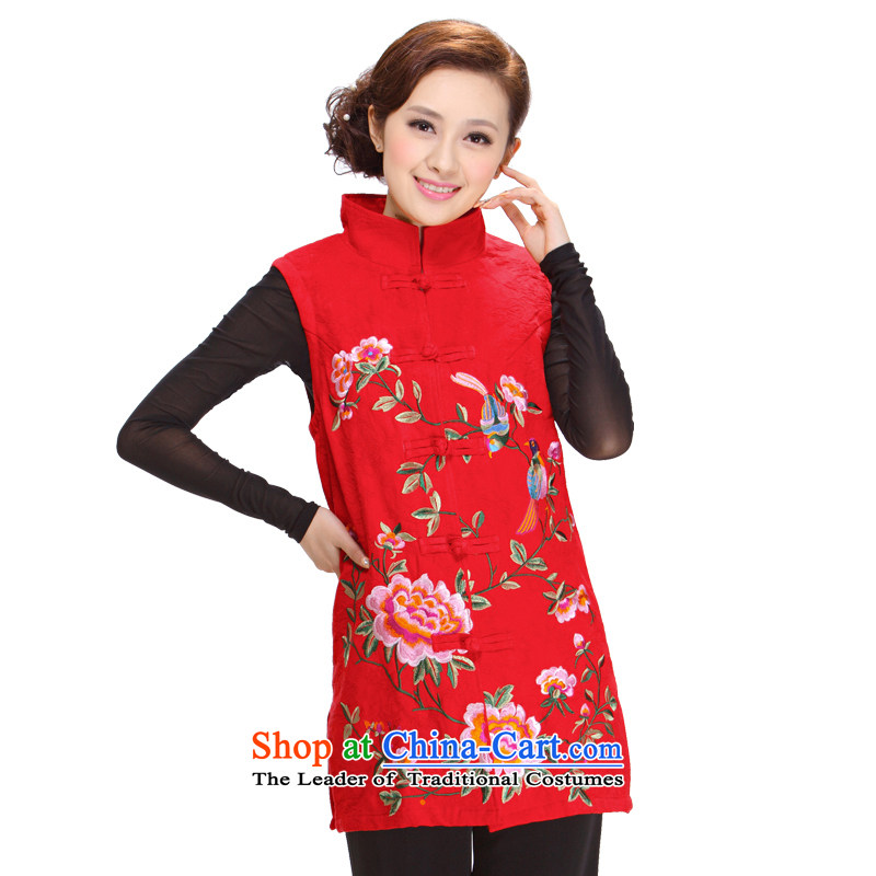 Ms. Tang Dynasty Winter 2013 new elderly mother ma folder jacket Tang Women's clothes J-mj05  3XL red
