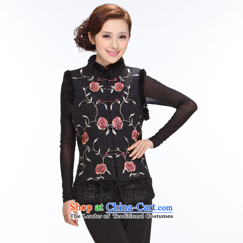Ms. Tang Dynasty Winter 2013 new elderly mother ma folder jacket Tang Women's clothes J-mj04 black L