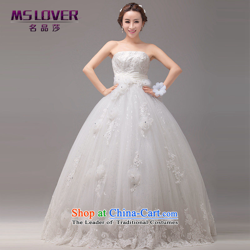 ?Korean soft and beautiful mslover Top Loin of flowers Gabon petticoats and chest straps to wedding pregnant women Wedding?2132?M?M 2 feet of white waist size 1)