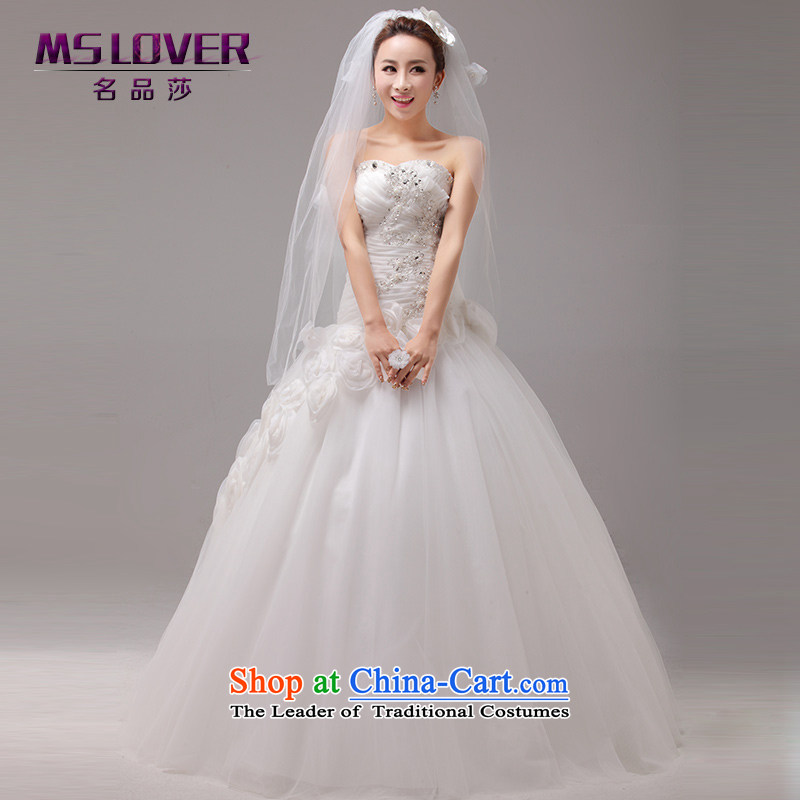 ?The asymmetric design flower mslover Princess Bride Korean anointed chest straps to align the wedding?2225?ivory?S