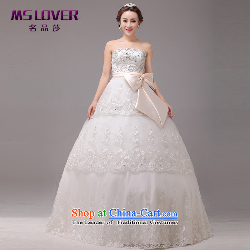 Mslover聽Korean Wedding Top Loin of Princess Bride and chest straps to wedding pregnant women wedding聽2 519聽m聽2 feet XL_ white waist size 3_