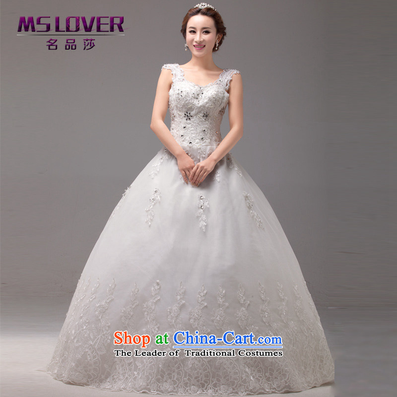 聽Elegant shoulders mslover French sexy back lace The Princess Bride to align with Sau San Wedding聽2254聽m White聽2 feet_ of PUERTORRICANS waist