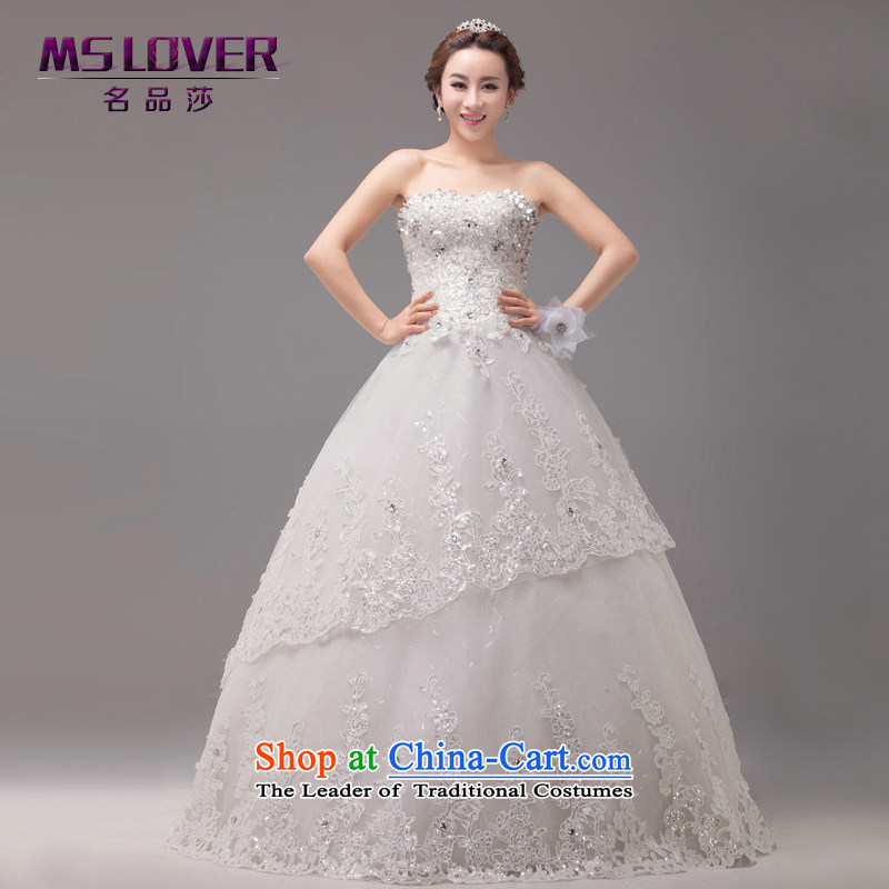 �The Korean version of the new mslover bride wedding manually staple bead Sau San shiny cards look like video thin lace wiping the chest to bind with wedding�2,259�m White�2 feet) of PUERTORRICANS waist
