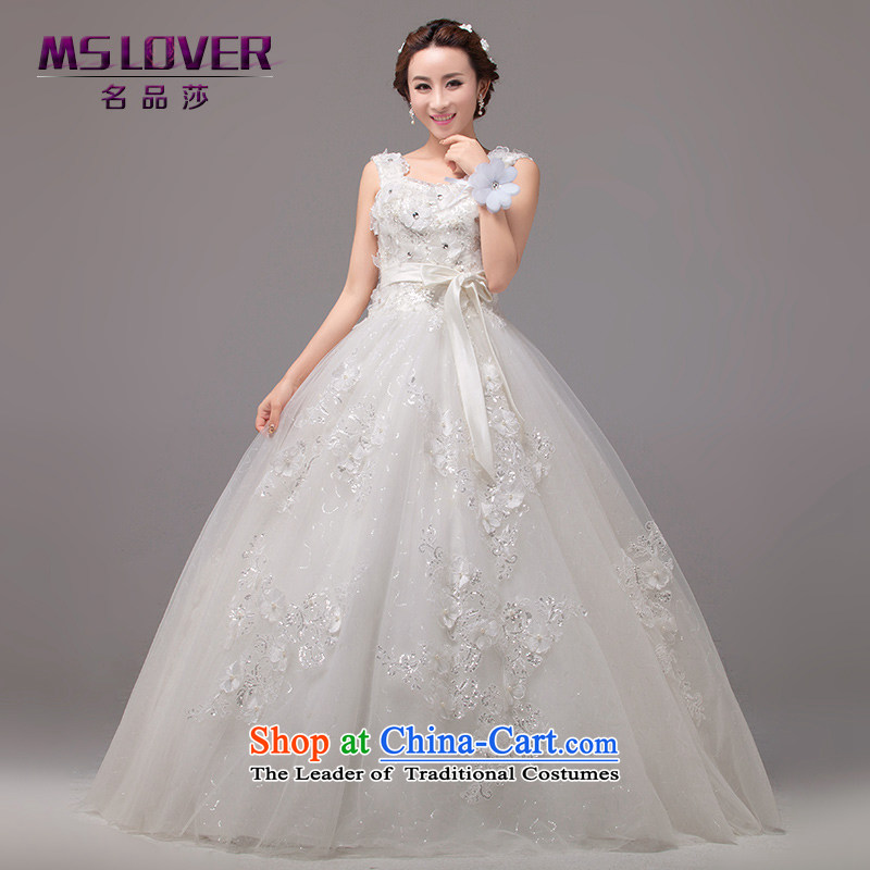 聽Large petticoats timeout mslover ponzi to bind with Korean style elegant shoulders Sau San temperament wedding dreams parent-child brides Wedding聽2260聽M聽 L2 Tape white waist size 2_