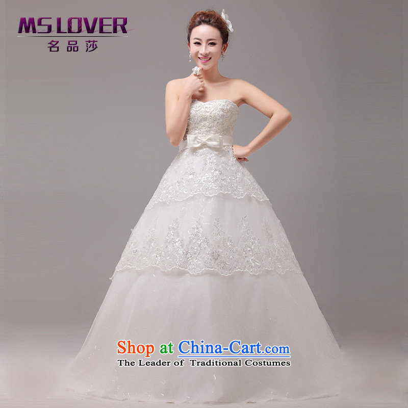 ?The new graphics temperament mslover thin Korean Top Loin of pregnant women to align the wedding of Sau San tie bridal lace anointed chest Wedding?2261?M? L2 Tape white waist size 2)
