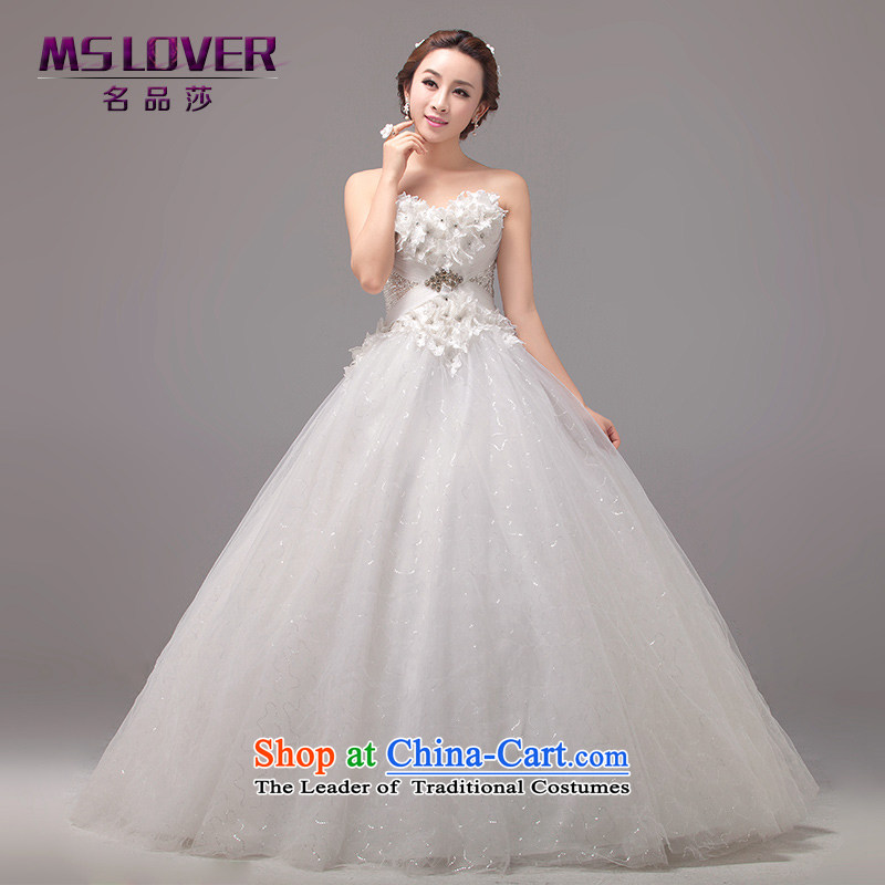 聽Large petticoats timeout mslover Fung Korean style wedding dreams flowers temperament video thin Princess Bride wiping the chest to bind with Wedding聽2264聽m White聽 2 feet_ of PUERTORRICANS waist