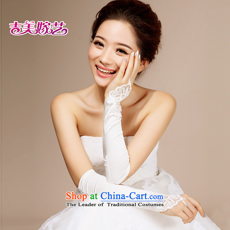 Beijing, in bride wedding dresses accessories accessories Korean bridal gloves single flower gloves 2015 new marriage white gloves