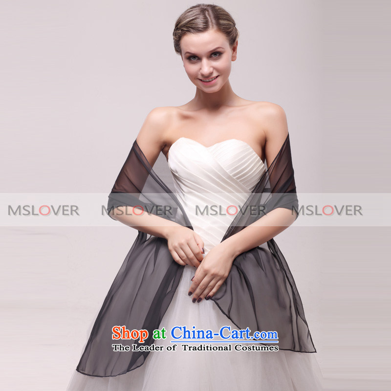 ?Gently flowing mslover tencel bride bridesmaid shawl Yang of the chador dress wedding accessories?PJ130803?optional color Black