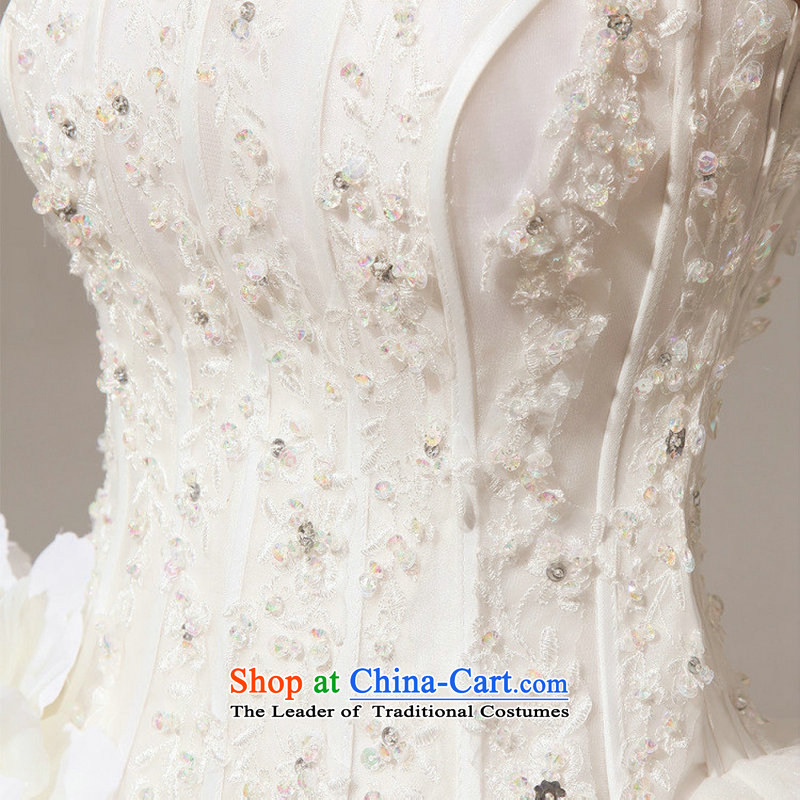 Optimize video new spring and summer 2014 Korean wiping the chest straps to align the diamond wedding dresses XS7037 marriages m White聽XL, Optimize Hong shopping on the Internet has been pressed.