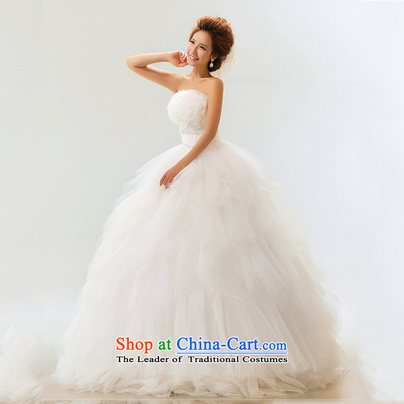 Optimize video upscale wedding won the 2014 edition of The Princess Bride wedding sweet marriage wedding anointed XS7089 chest m White�L