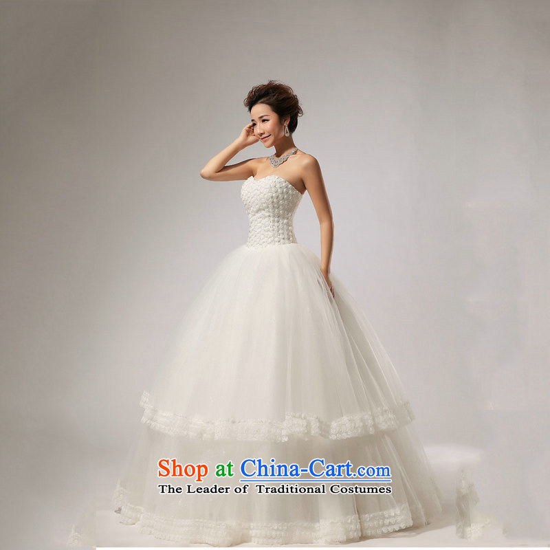 Optimize video new anointed chest Marquee to skirt for Hotel Courtesy bride wedding dresses XS7165 m White?M