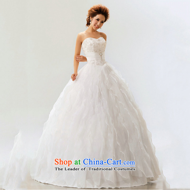 Optimize Hong-wedding dresses 2014 new lace straps princess bon bon skirt straps sweet marriages XS7111 m White L