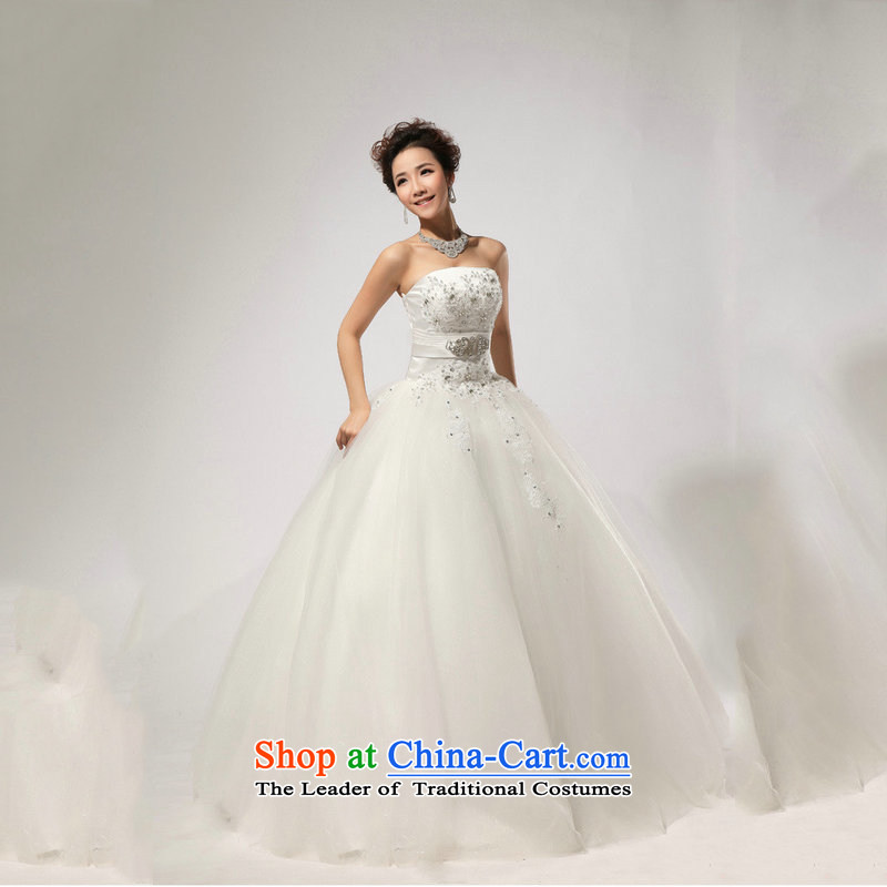 Optimize the new 2013 Hong-diamond drill, hand strap and video thin chest wedding XS7079 m White�M