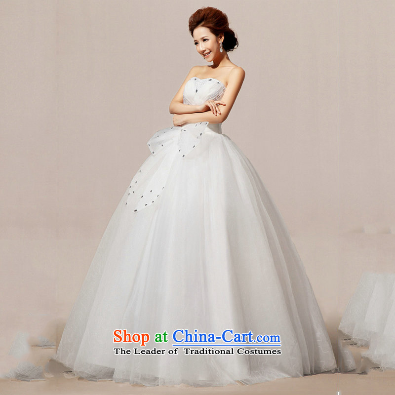 Optimize Hong-wedding dresses 2014 Diamond Korean sweet princess alignment with chest spring wedding XS7075 m White�XL