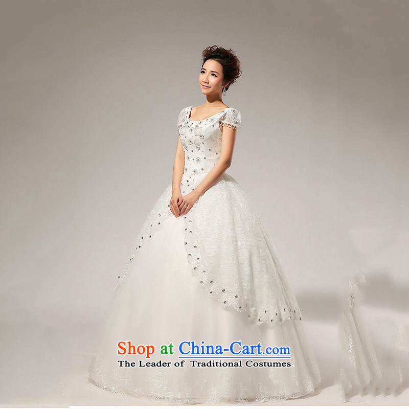 Optimize the new 2013 Hong-fashion princess bubble cuff bon bon bride diamond wedding dresses XS7078 m White?XXL