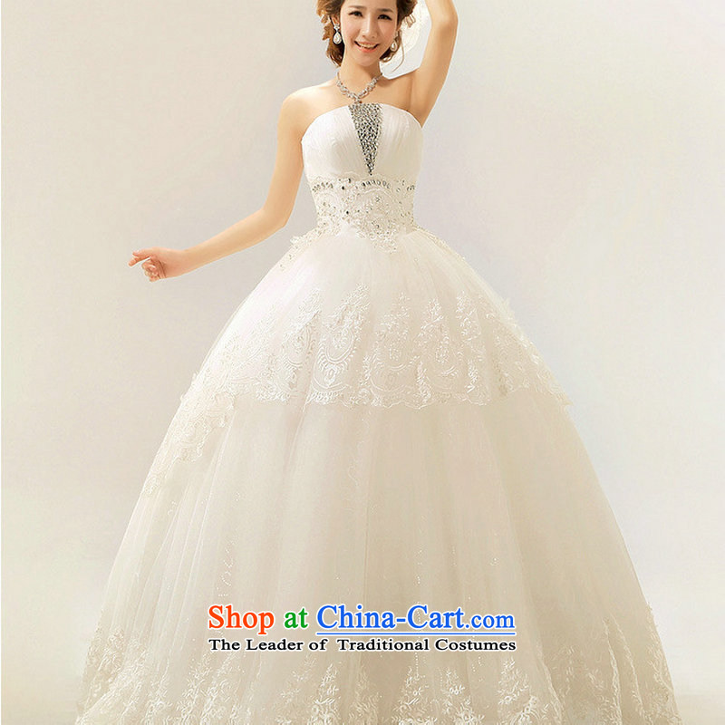 Dr Philip Optimize The Princess Bride 2014 new Korean anointed chest lace in luxury waist straps wedding dresses XS7082 m White?M