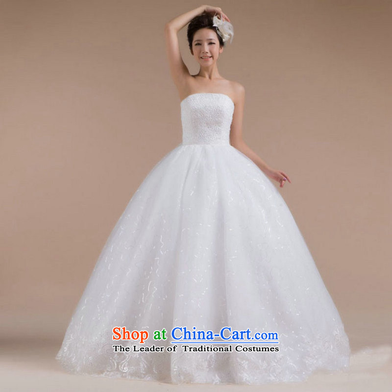 Optimize the new 2015 Hong-sexiness and chest luxury video thin bride wedding to align the tail wedding XS7084 white?L