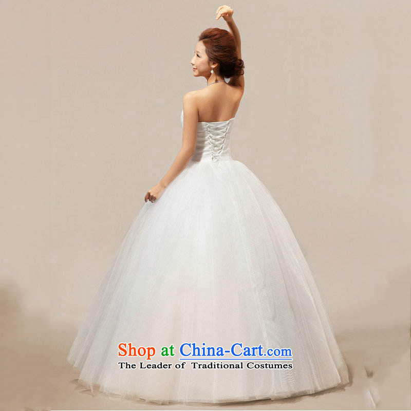Optimize the new 2013 Hong-wiping the chest to align the princess sweet wedding dress XS7092 m White?M
