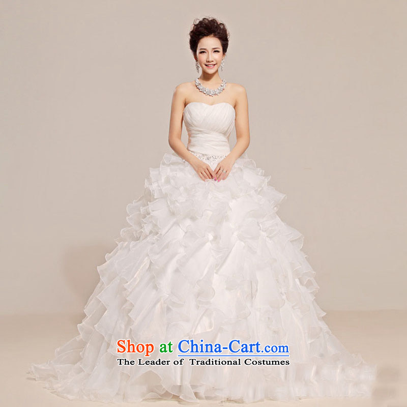 Optimize video sexy anointed chest lace dress crowsfoot Sau San OSCE root yarn bon bon skirt wedding XS7097 White?XL