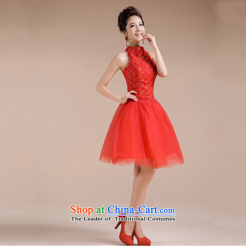 Optimize new Hang History Hong-engraving tread on chip decor elegant sexy back small dress XS7136 RED?XXL