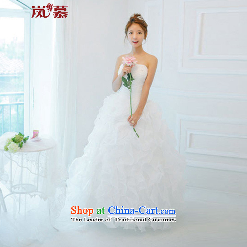 The sponsors of the 2015 New LAURELMARY, Korean lovely princess skirt bon bon skirt Siu-ching newlyweds wedding dresses pure white custom sized _please contact Customer Service_