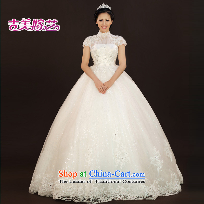 Kyung in Ting Kau, No. lace wedding dresses Kyrgyz-american 2015 new package version Korea shoulder bon bon skirt to align HS937 bride wedding ivory�M