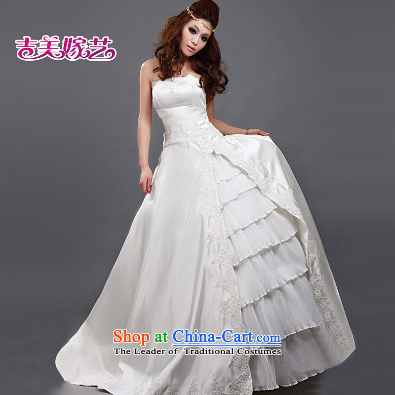 Beijing No. year wedding dresses Kyrgyz-american married new anointed arts 2015 Chest Korean skirt HS176 to align the Princess Bride wedding ivory S