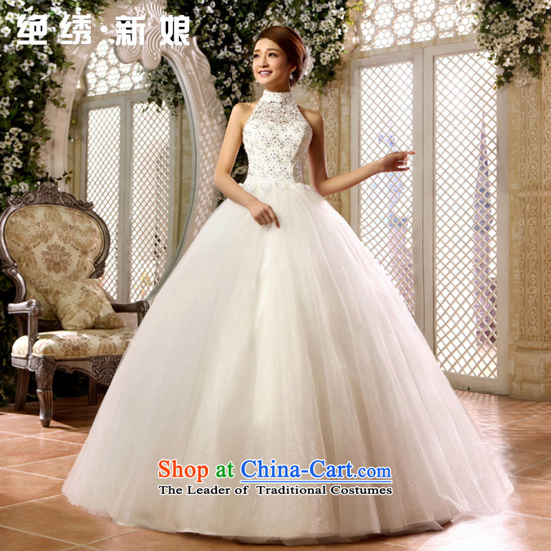 No new 2015 bride embroidered Korean sweet lace princess also wedding Align hook to bind with wedding white tailor-made does not allow