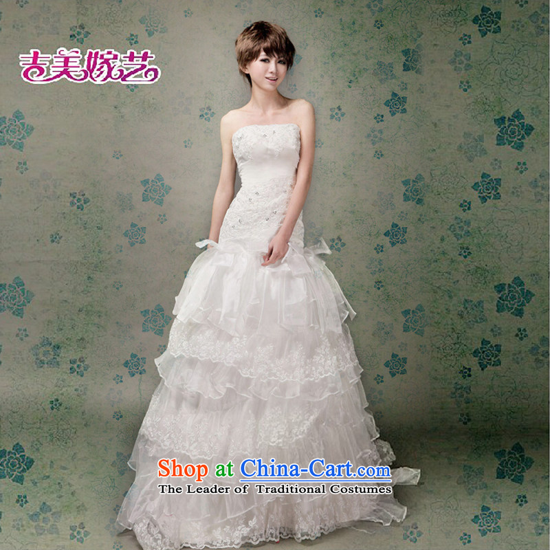 Beijing No. year wedding dresses Kyrgyz-american married new anointed arts 2015 Chest Korean skirt tail HT2007 Princess Bride wedding ivory XXL