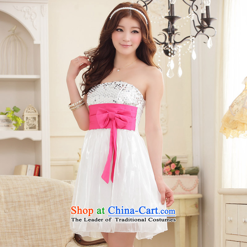 The end of the light (MO) COMPEERS QIAN moving on-chip color Foutune of chest dress skirt (feed) White�XXL Stealth