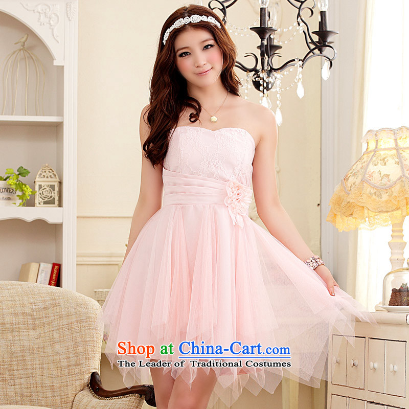 The end of the light (MO) QIAN romantic honeymoon blossoms video does not rule under the thin end of the chest dress skirt (feed) with pink stealth�XL