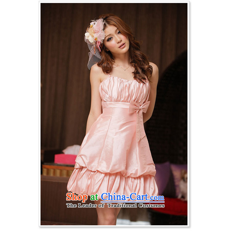 The end of the light (QIAN MO) spring and summer to them attractive princess straps lanterns dress dresses pink are code