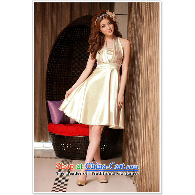 Summer Evening noble large a dress dresses champagne color聽XL
